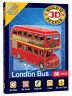 Mini 3D London Bus Build-It Puzzle (66 Pieces) - Brand New Model Kit