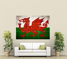 Wales Flag Giant XL Section Wall Art Poster O103