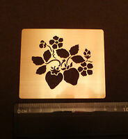 Brass/stencil/Oblong/Strawberry/Leaf/Floral/Flower/Embossing/emboss/NEW