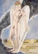 Oh boy, homme nu watercolor print nude male Gabriel gay interest