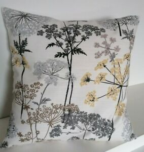"""18"""" Cushion Cover Hedgerow Trees Silver Grey Beige"""