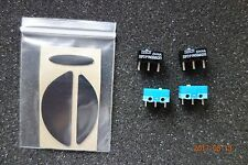 Logitech G5 G7 Teflon mouse Feet & 2 Omron 7N 20M OF and Huano Micro switches