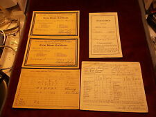 LOT OF VTG & ANTIQUE Jr & HIGH SCHOOL REPORT CARDS, LITTLE ROCK, 4 X 1930's+++++