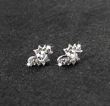 swirl stud Earrings Studs rhinetone twist crystal gift silver butterfly bling uk