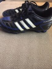 Adidas Puntero---Boy's Black Blue  Soccer Cleats Shoes Sneakers Sz 2.0 Shoes