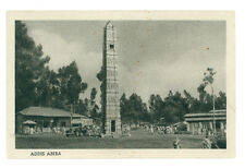 ADDIS ABEBA OBELISCO VEDUTA ETIOPIA AFRICA ORIENTALE COLONIE D'ITALIA ANNI '30