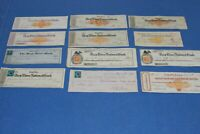 US Revenue Stamped Paper Old Checks Accumulation as shown BlueLakeStamps Fun