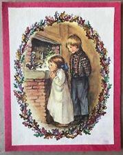 FINE Tasha Tudor Vintage Irene Dash Co Christmas Refurbished Card Kids Creche