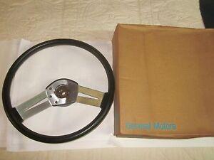 NOS 1978-79 Oldsmobile Cutlass W30 Hurst/Olds Black Sport Steering Wheel 9759472