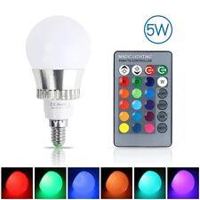 RGB 5W E14 Bunte LED Birne 16 Farbwechsel Lampe Licht mit 24 Key Fernbedienung