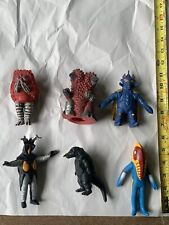 Ultraman Bandai Banpresto Toy Monster Figure Lot 6 Figures Zetton Pigmon Metron