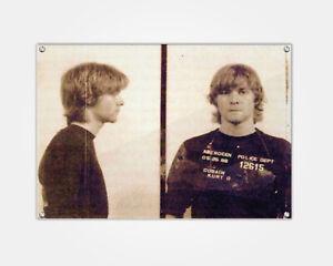 Kurt Cobain Wood Print Celebrity Mugshot Booking Photo Mug Shot Pop Art