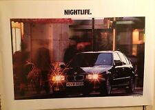 "BMW 3 Series""Nightlife In Germany"" Factory Original Car Poster Extremely Rare!"