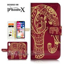 ( For iPhone XR ) Wallet Case Cover P21111 India Elephant
