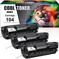 3pk Toner Cartridge for Canon 104 ImageClass MF4150 MF4350d MF4370dn D420 D480