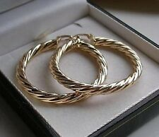 GENUINE 9ct Gold hoop earrings gf ALMOST SOLD OUT OVER 900 SOLD!!! ref18
