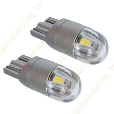 2X T10 W5W LED Bulb White Light 3030 168 194 12V 2smd Parking License Plate Lamp