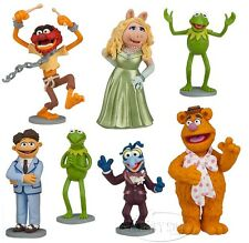 NEW Disney Store The Muppets Most Wanted 7 Figurine Figure Play Set Cake Toppers