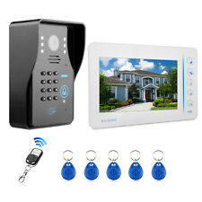"7"" Monitor Video Door Phone Intercom Doorbell Code /RFID Keyfobs /Remote Control"