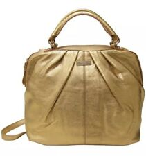 Kate Spade Five Points Camille Metallic Leather Bag Satchel Crossbody Purse $475