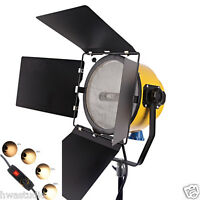 HWASTUDIO® 2000W Yellow Head Spotlight Blonde light Continuous dimmer tungsten