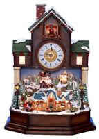 Holiday Cuckoo Clock Christmas Coo-Coo Animated Lighted Santa Train Sleigh NEW