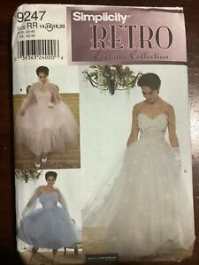 SIMPLICITY Retro Costume Collection Misses Dress  Pattern 9247 Size 14-16