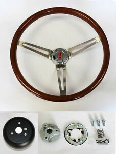 "62 63 67 Oldsmobile Cutlass 442 Delta Wood Steering Wheel 15"" High Gloss"