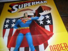 Rare Dc Direct Comics Retailer Promotional Statue Poster Superman #14 17X11""