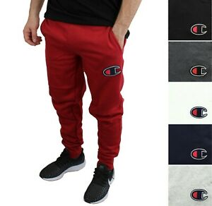 Champion Men's Activewear Jogger Sweatpants Front-Back Pocket Brushed Fleece