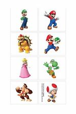 Super Mario Tattoos - Birthday Party Supplies - Mario Party Favours and Loot