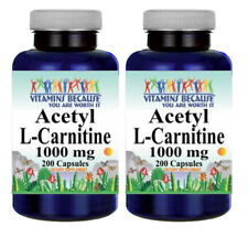 Acetyl L-Carnitine 1000mg 2X200 Caps by Vitamins Because Your Worth it
