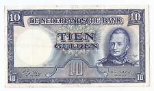 Netherlands 10  gulden 1949 King Willem I