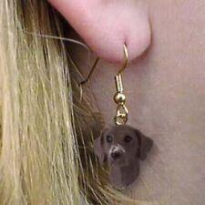Dangle Style German Shorthair Dog Head Resin Earrings Jewelry