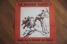 """Manifesto Riproduzione propaganda fascista """"LA NUOVA EUROPA"""""""
