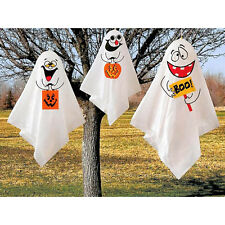 3 Haunted Halloween Party Happy Boo Ghosts Spooks Outdoor Hanging Decorations