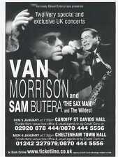 VAN MORRISON & Sam Butera Cardiff  2003 UK FLYER / mini Poster 8x6 inches