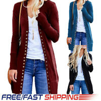 Women Winter Baggy Cardigan Coat Long Chunky Knitted Oversized Sweater Jumper CA