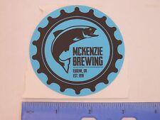 Beer STICKER ~*~ McKenzie Brewing Company ~*~ Eugene, OREGON ~ Since 1991 ~ Fish