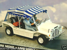 DIECAST 1/43 JAMES BOND 007 MINI MOKE LIVE AND LET DIE WHITE WITH STRIPED ROOF