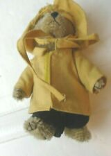 """The Boyd Bear mohair Collection  Brown bear in Yellow raincoat 5"""""""