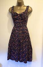 VIVIENNE WESTWOOD Fit & Flare Corset Style Dress Sz 6 8 VERY GOOD CONDITION £415