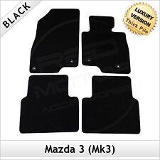 MAZDA 3 mk3 2013 in Poi Completamente Su Misura 1300g di Lusso Tappeto Tappetini Per Auto Nero