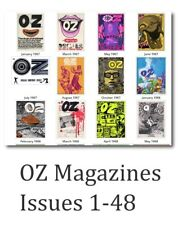 OZ Vintage Magazine issues 1 to 48 On DVD Rom, counter culture, nude Oz staff