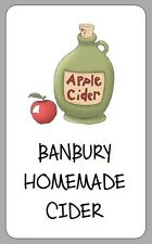 21x HOMEMADE APPLE CIDER LABELS PERSONALISED HOMEBREW STICKERS FOR BOTTLES GIFTS
