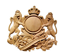 Coat of Arms solid hardwood wall plaque