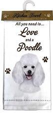 E&S Pets 700-28 Poodle Kitchen Towel, Off-white