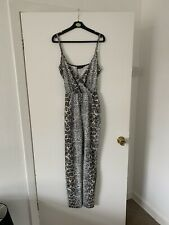 New Pretty Little Thing Snake Print Jump Suit Size 12