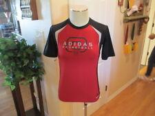 ADIDAS Basketball Boys Kids Techfit Red Short Sleeve Shirt youth Large