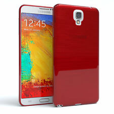 Schutz Hülle für Samsung Galaxy Note 3 Neo Brushed Cover Handy Case Rot